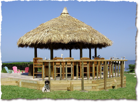 Florida Tiki Hut Gazebo With Stand Up Bar