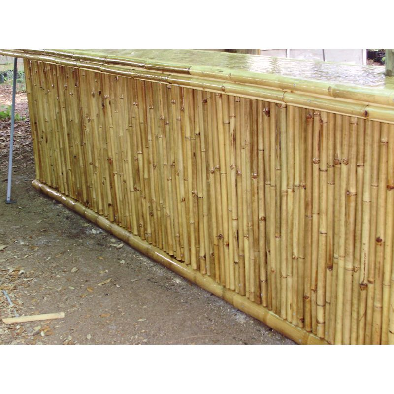 Rolled Solid Bamboo Fencing