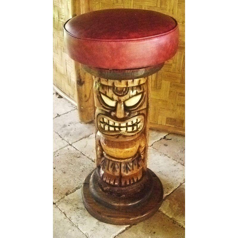 Tiki Barstools Custom Pole, Outdoor Tiki Bar Chairs