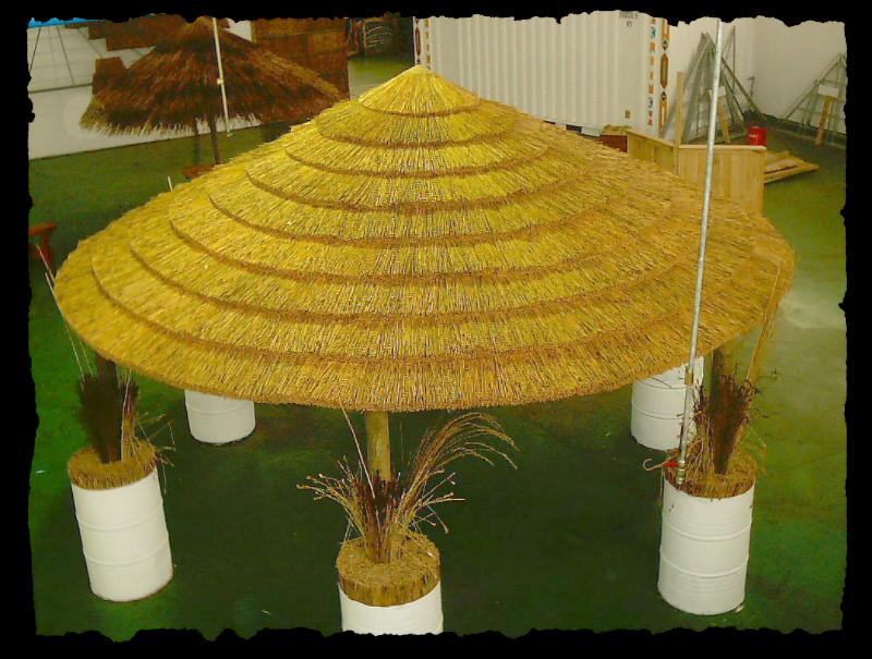 African reed thatch gazebo